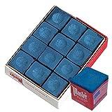 Master 18-319 Billiard/Pool Cue Chalk Box, 12 Cubes, Blue (Color: Blue)