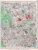 LONDON WEST END: Camden Bloomsbury Fitzrovia Marylebone Soho Mayfair;1964 map