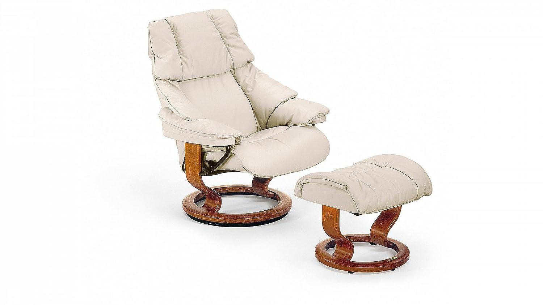 Stressless® Reno Sessel mit Hocker (S) Grau günstig kaufen