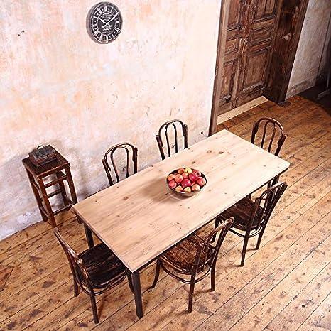 Table style industriel Ménagère, Beige, Black, 6 seater