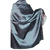 Wraps Shawls Paisley Pattern Silk Winter Clothing 111 x 182 Cmby ShalinIndia