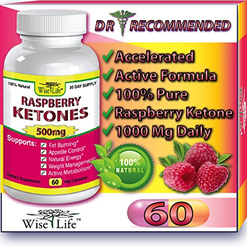 Raspberry Ketones Pure & Fresh 500mg Ketone Plus - 60 Vegetarian Caps, Fast Metabolism Diet Pills - Best Max Burn & Lose Fat Quickly Healthy Dieting Pills Proven for Rapid Weight Loss That Works Naturally Fast - Safely Simply Slim At Home with No Side Effects Raspberry Ketones