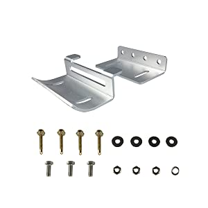 Renogy Solar Panel Mounting Curved Z Bracket-Set of 4 for RV, Boat, Roof, Wall and Other Off Gird Installation (Tamaño: 1 set curved)