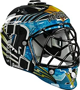 OFFICIAL NHL PITTSBURGH PENGUINS MINI GOALIE ICE HOCKEY HELMET MASK BY FRANKLIN