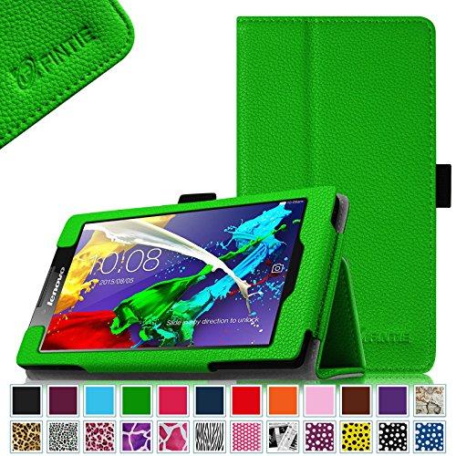 Fintie Lenovo Tab 2 A7-10 / A7-30 Folio Hülle Case Cover Tasche Etui - Premium Leder Schutzhülle mit Auto Sleep / Wake für Lenovo Tab 2 A7-10/ A7-30 17,8 cm (7 Zoll) IPS Android Tablet, Grün