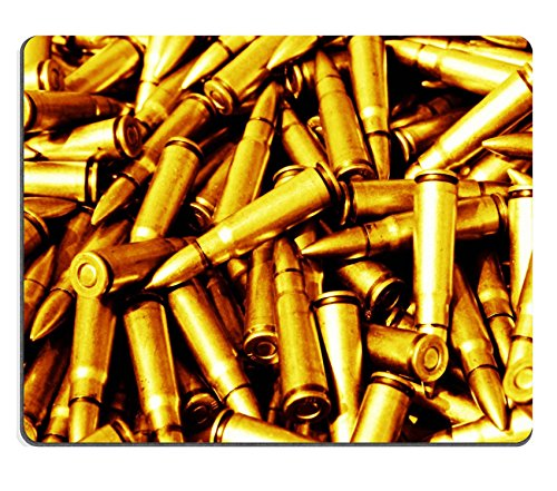 Mousepads closeup of pictures piles of rifle bullets IMAGE 32063970 by MSD Mat Customized Desktop Laptop Gaming Mouse Pad
