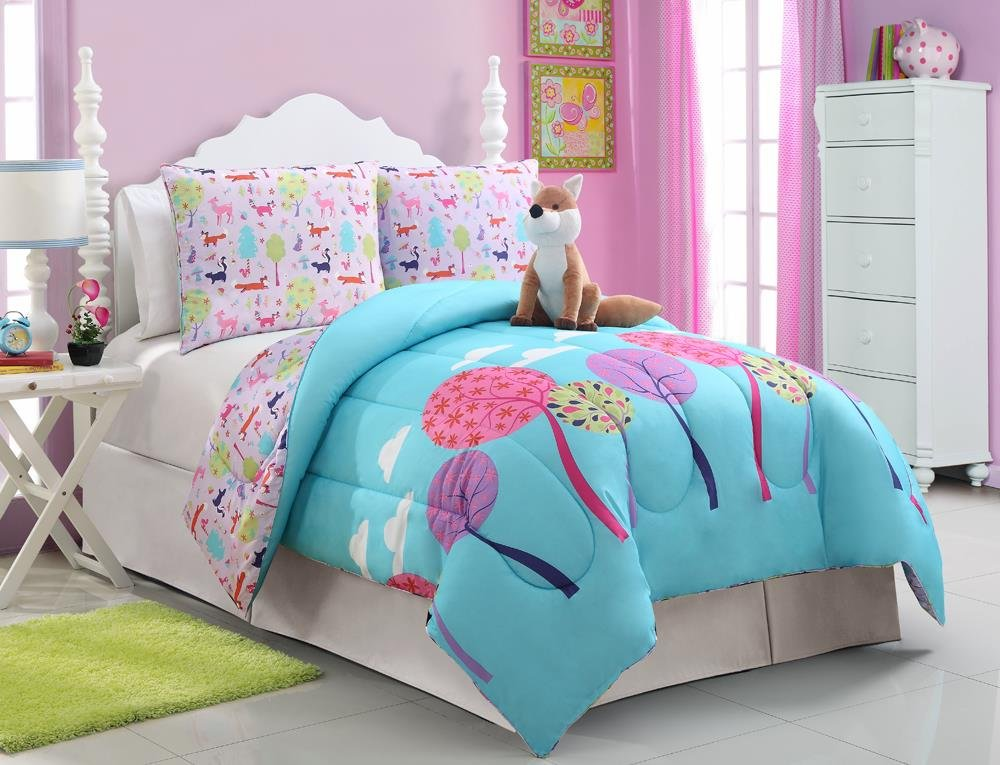 Girls Kids Bedding- Foxy Lady Comforter Set