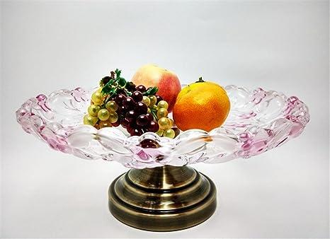 ZWZT Fruta Bowl ensaladera bandeja de frutos secos de centro de mesa sala de estar casa