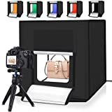 Portable Photo Studio Light Box,16inch Photography Lighting Tent kit,Shooting Lighting Softbox LED 5500k CRI95 & 6 Color Backdrops for Product Display (Color: Silver-big studio 40*40)
