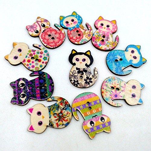 vollter-50pcs-pack-cat-fumetto-diy-stampa-a-colori-tasti-di-legno-tasti-di-legno-fatta-a-mano-gatto-
