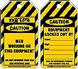 KRM LOTO CAUTION - MEN WORKING AT THIS EQUIPMENT (Set of 10 pcs)