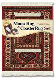 Lextra® (Freud), MouseRug® & CoasterRug® Set, rust and cream, 10.25\