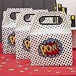 Ginger Ray POW super-h�ros parti parti Kids cases x 5 - Comics super-h�ros