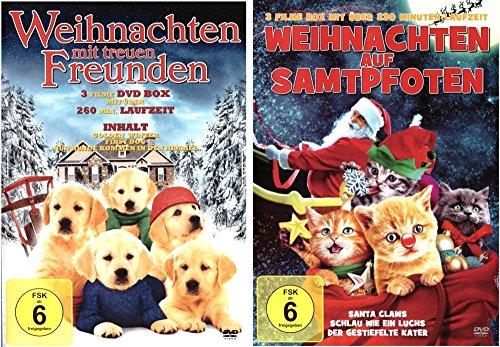 Weihnachten mit samtpfotigen Freunden (Das tierische Kinder Highlight zu Weihnachten) (Inhalt: 6Filme mit 490 Min. Laufzeit) [2 DVDs]