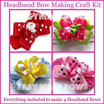 Kids Craftheadbandhow to Make Hair Bows Instructions Assembly Kit Easymakebows Made in Usa Ribbonaccessories for Ages 12 & Up. Creativity Gift Ideas.