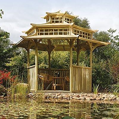 Rowlinsons Oriental Pagoda Wooden Gazebo OGD056