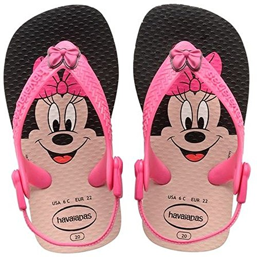 Havaianas Baby Disney, Infradito Unisex-bambino, Multicolore (Mehrfarbig (White/Rose / 0142)), 21 EU (19 BR)