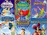 Cinderella 1 & 2 / Little Mermaid 1 & 2 / Peter Pan 1 & 2 - Set 6 VHS tapes