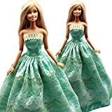 15 Items = 5 Pcs Quality Fashion Dresses Clothes 10 Shoes for Barbie Doll Gift