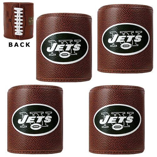 NFL New York Jets Four Piece Football Can Holder Set at Amazon.com