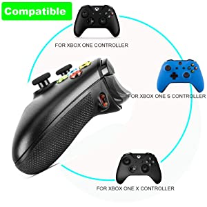 Quickshot for Xbox one Controller, COCOTOP Replacement Strike Pack Trigger Rubber Grips for Xbox ONE,Xbox One S and Xbox One X Wireless Controller - Black (Color: Black)