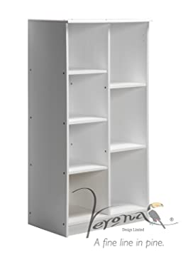 Verona Design Alova Double Unit Solid Pine Open Storage With Multiple Hanging & Shelving Whitewash