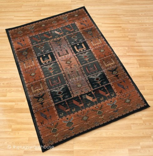 Egyptian Gabbeh Shiraz Multi Coloured Rug 200x285cm (6'6''x9'4'')