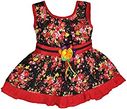 Be BeBo Girl's Cotton Dress (845, Red, 1 Year )