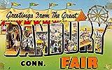 Danbury Connecticut Large Letter Fair Greeting Vintage Postcard K62864