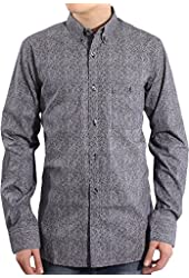 French Connection Men's Kabenje Lifeline Long Sleeve Micro Floral Shirt