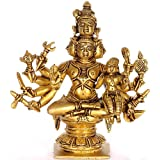 Five Headed Shiva With Shakti - Brass Sculpture
