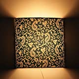 Craftter Traditional KERI DESIGN GREEN Color FABRIC Half Shade WALL LAMP Fixture