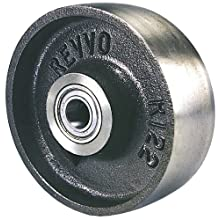 "Revvo CI Series 4"" Diameter X 1-3/4"" Width Cast Iron Wheel, 700 lbs Capacity"