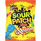 Sour Patch Kids Sweet and Sour Gummy Candy (Extreme, 4 Ounce Bag, Pack of 12) (Tamaño: 4 Ounce Bag, Pack of 12)