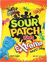 Sour Patch Kids Candy (Extreme, 4 Ounce Bag, Pack of 12)