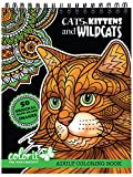 Cats, Kittens, and Wildcats Coloring Book for Adults with Creative Hand-drawn Designs to Color, Animal Coloring Pages Printed On Artist Quality Coloring Paper by ColorIt