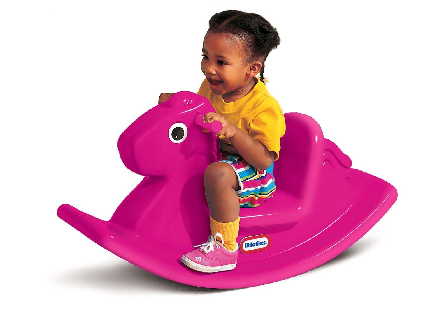 An Image of Little Tikes Rocking Horse Magenta
