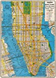Cavallini & Co. New York City Map Decorative Decoupage Poster Wrapping Paper Sheet