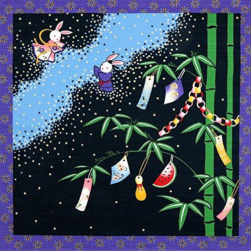 《DM便対応》 (キステ)Kisste 四季彩布 12ヶ月の季節柄小風呂敷 5-4-00081 【No.7】七夕