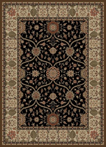 Concord Global Rugs Mooresville Collection Arts & Crafts Black Rectangle 6'7
