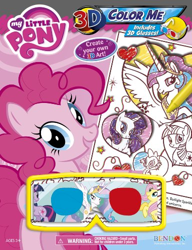Bendon My Little Pony 3D Color Me Activity Book