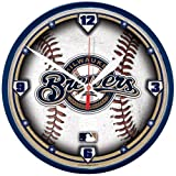 Milwaukee Brewers Baseball Style Wall Clock