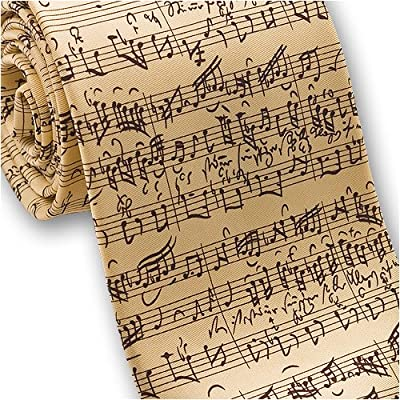 Music by JS Bach - Men's Silk Necktie