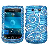 Hard Diamond Phone Protector Case Flourish For BlackBerry Torch 9800 9810
