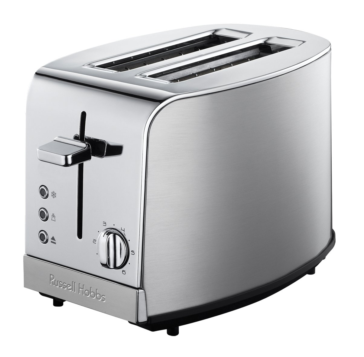 toaster russel hobbs deluxe metallic silber chrom 2 scheiben toast 18116 grill ebay. Black Bedroom Furniture Sets. Home Design Ideas