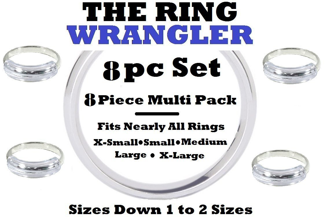 8 Pack No Scratch Ring Guard Ring Size Reducer, Multi Pack of Ring Guard Size Reducers