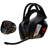 ASUS ROG Centurion True 7.1 Surround Sound Gaming Headset for PC/Console with USB Control Box (Color: Black, Tamaño: True 7.1 Surround)