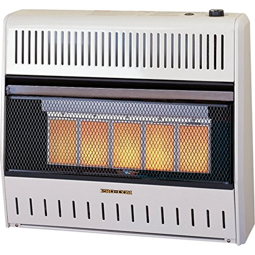Procom Vent-Free Natural Gas Wall Heater - 5 Plaque, 30,000 BTU, Manual Control (Wall Heaters Gas compare prices)
