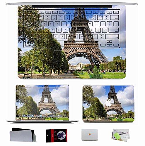 10 Pcs Macbook Pro/Air 11 13 15 Inch Skin Decal - City France Paris Champs De Mars Images Architecture Eiffel Tower