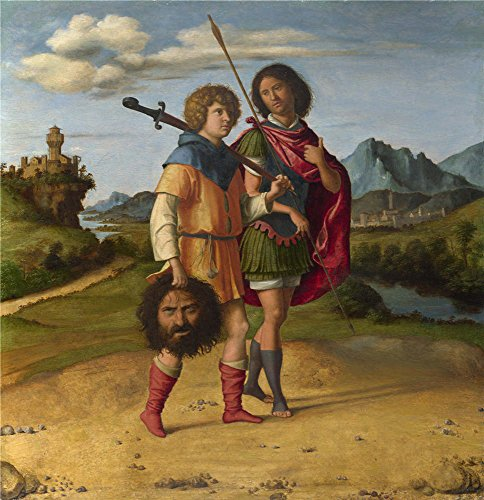 Polyster Canvas ,the Cheap But High Quality Art Decorative Art Decorative Prints On Canvas Of Oil Painting 'Giovanni Battista Cima Da Conegliano David And Jonathan ', 12 X 12 Inch / 30 X 32 Cm Is Best For Foyer Decor And Home Decor And Gifts